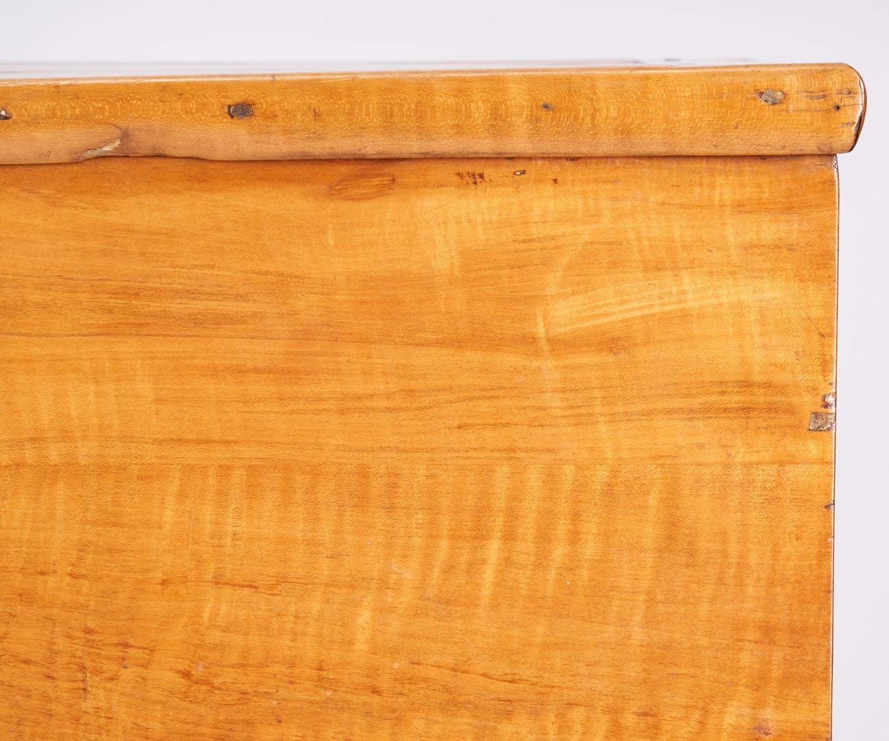 Lot 167: Sheraton Tiger Maple Sugar Chest