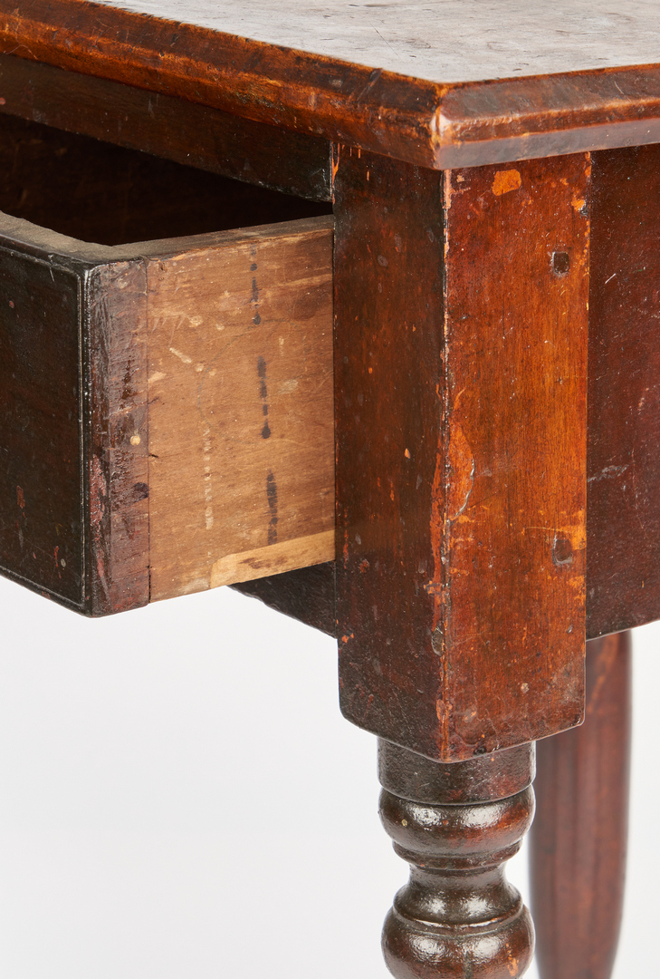 Lot 168: Middle TN Diminutive 1-Drawer Stand, Original Surface