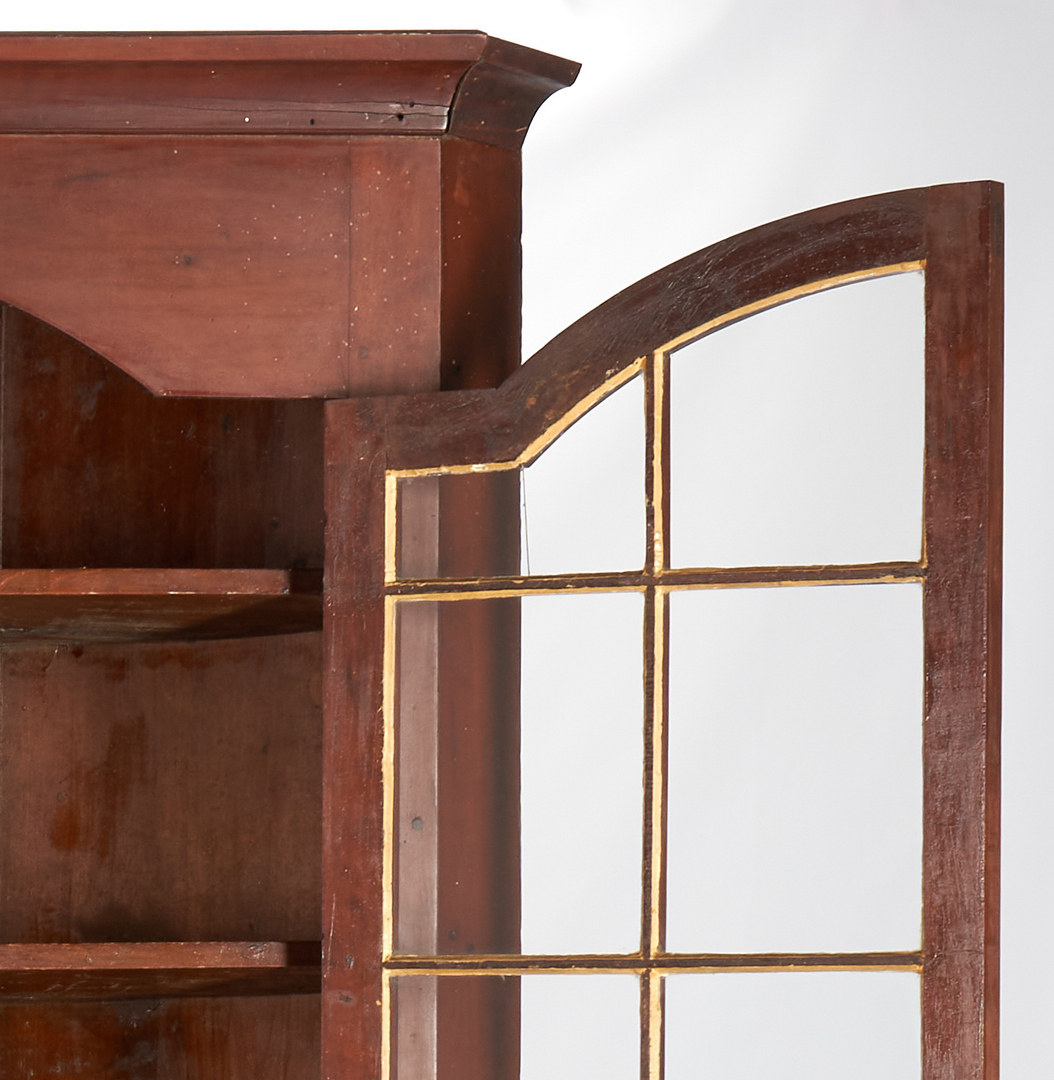 Lot 169: Greene County TN Cherry Corner Cupboard, Arched Doors