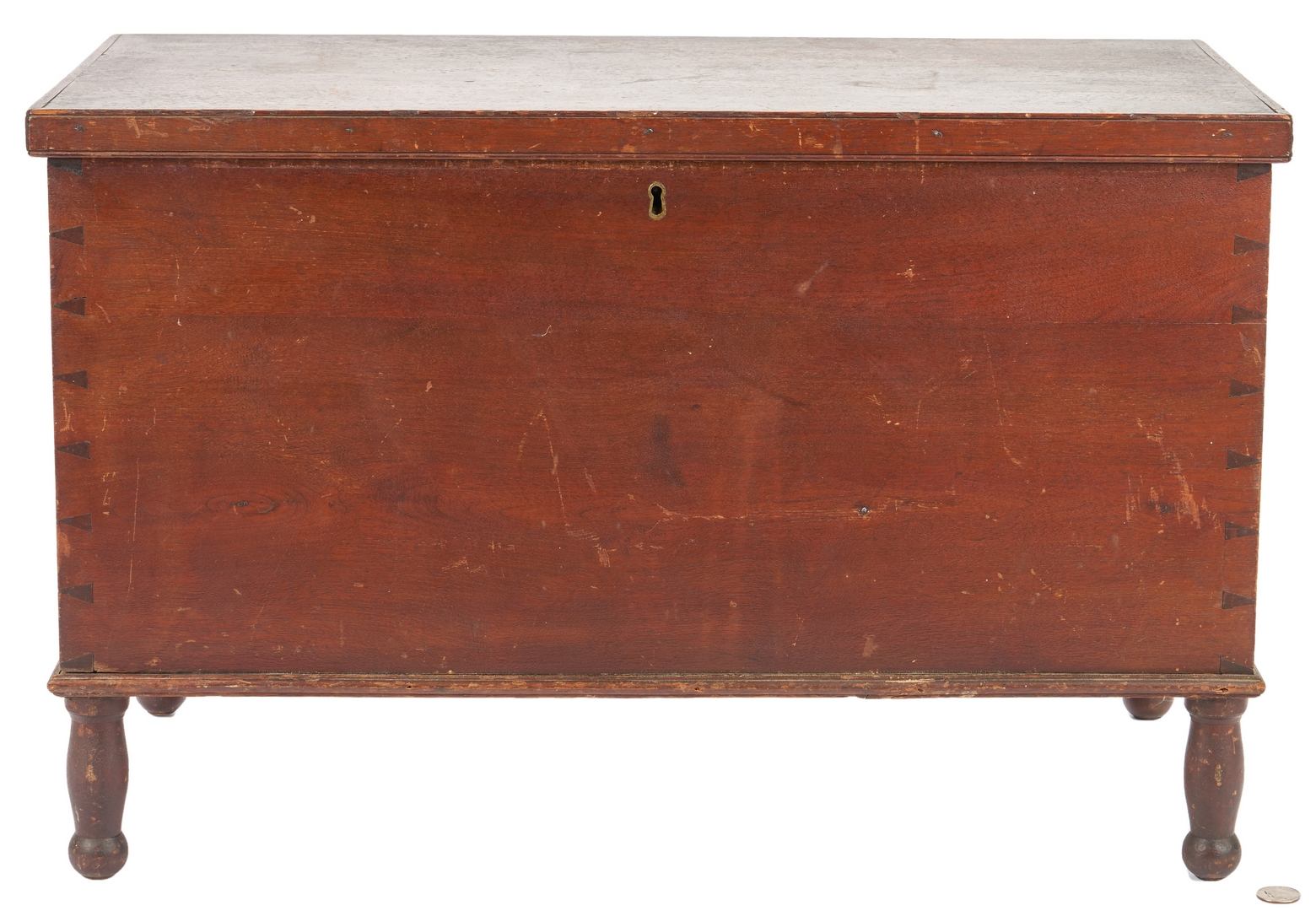 Lot 170: Miniature Tennessee Walnut Blanket Box