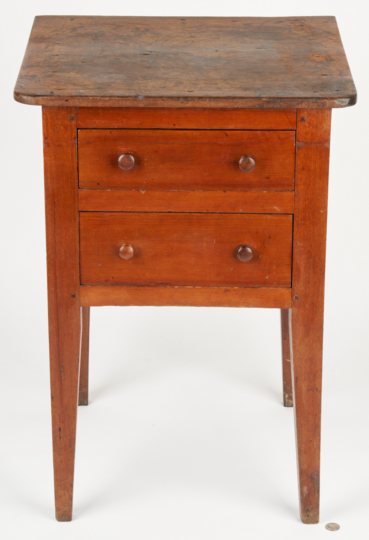 Lot 172: 2 Middle TN Hepplewhite Work Tables