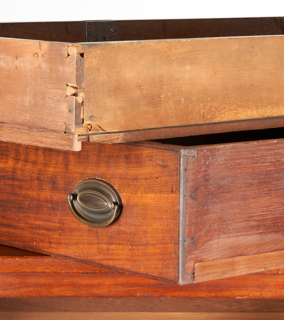Lot 173: Middle TN Walnut Sheraton Chest of Drawers