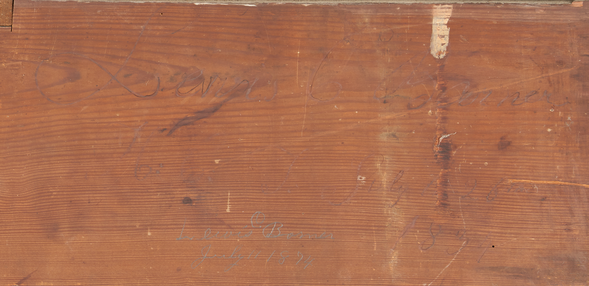 Lot 174: East TN Walnut Jackson Press, Signed Banner 1834