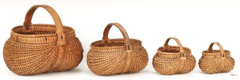 Lot 178: 4 East TN Graduated Buttocks Baskets