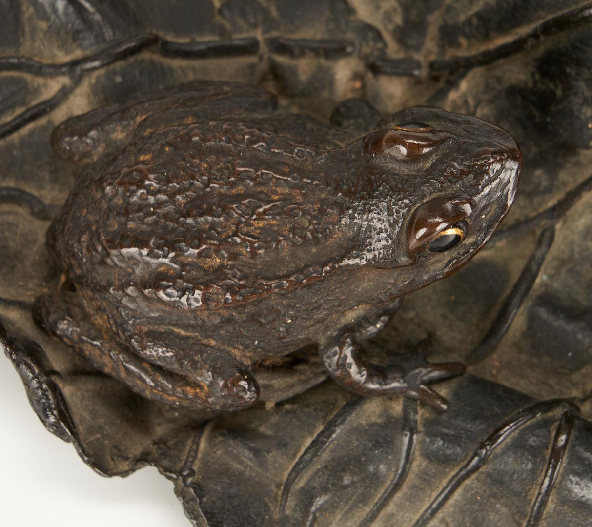 Lot 17: Japanese Bronze Frog Ikebana, signed