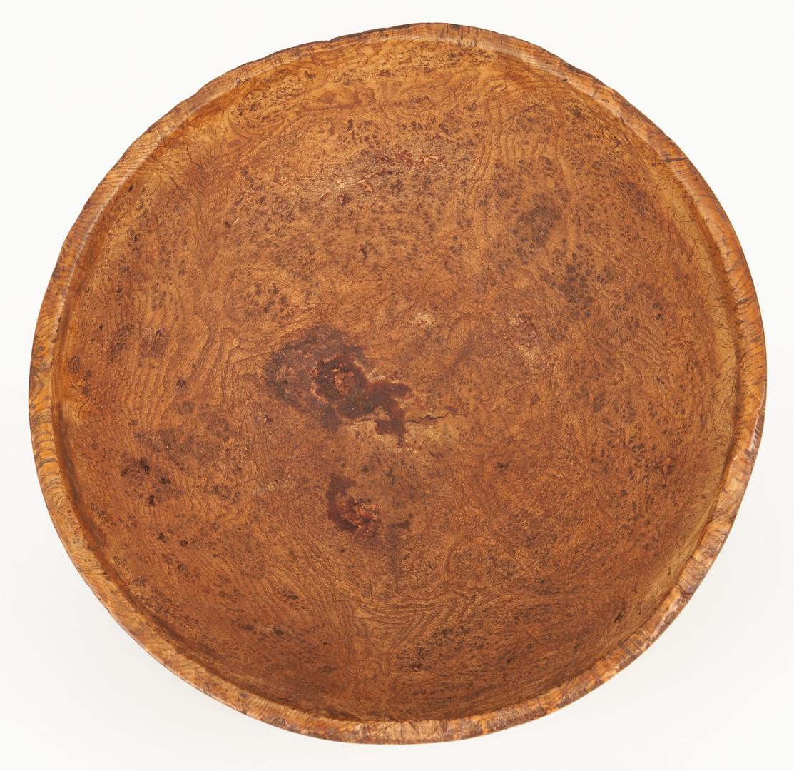 "Lot 180: Large 19th Century Burl Wood Bowl, 14"""