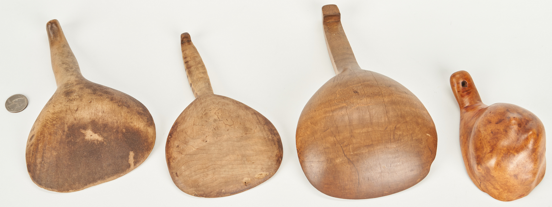 Lot 182: 11 Wooden Kitchen Tools, Tiger Maple and Burl