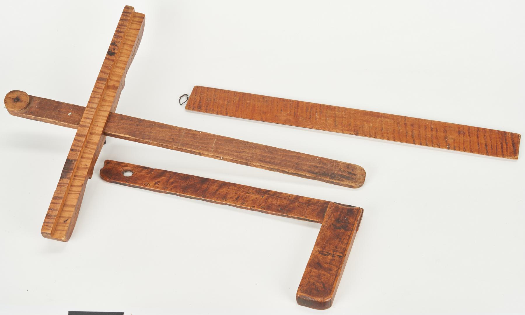 Lot 186: 9 Wood Tools, incl. Tiger Maple & Burl