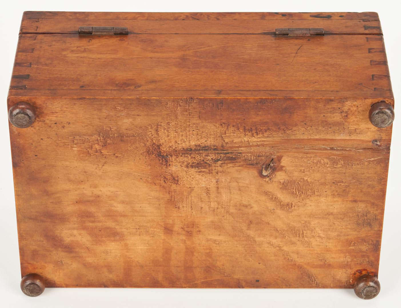 Lot 187: 3 American Boxes, Tiger Maple & Burl