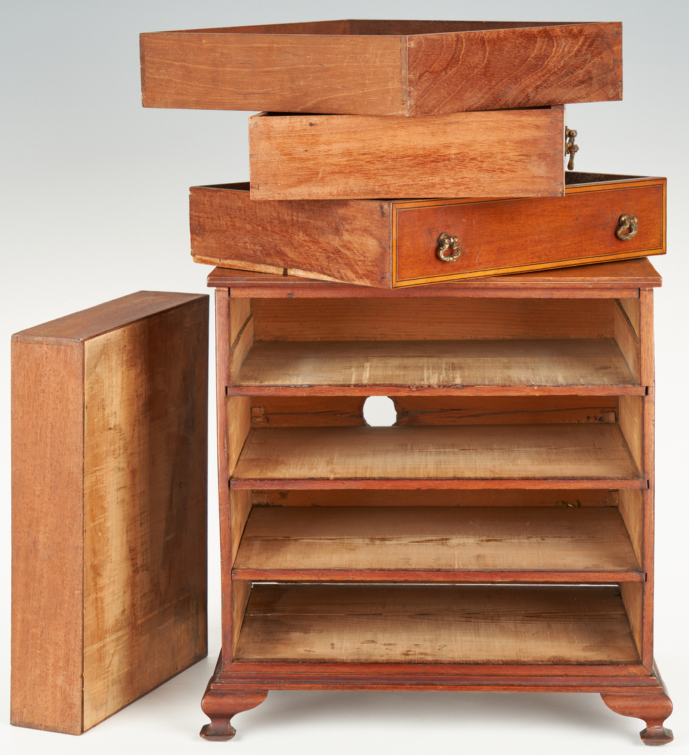 Lot 188: American Miniature Chest of Drawers, Shell Inlay
