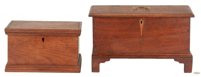Lot 189: Miniature Blanket Chest Box & Document Box