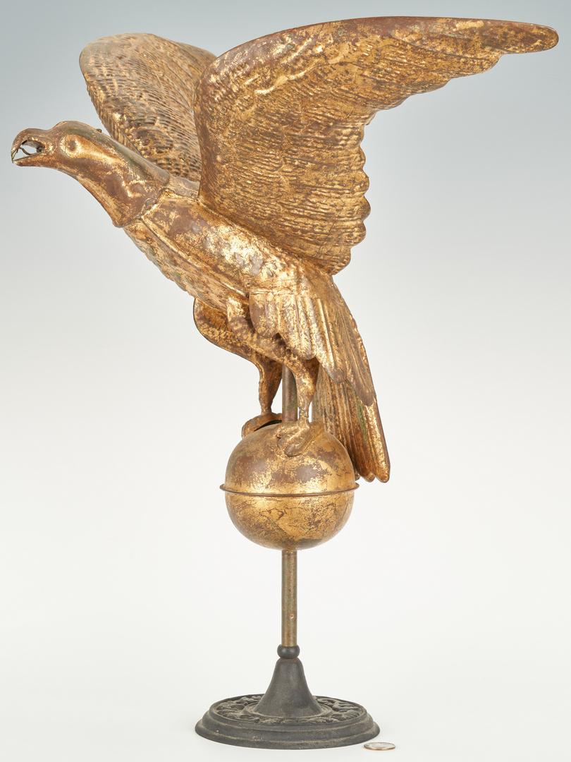 Lot 191: Gilt Eagle Weathervane w/ Stand