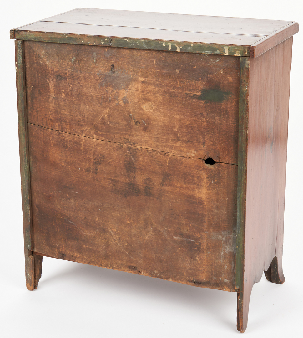 Lot 192: Miniature Federal Inlaid Chest of Drawers, attr. PA
