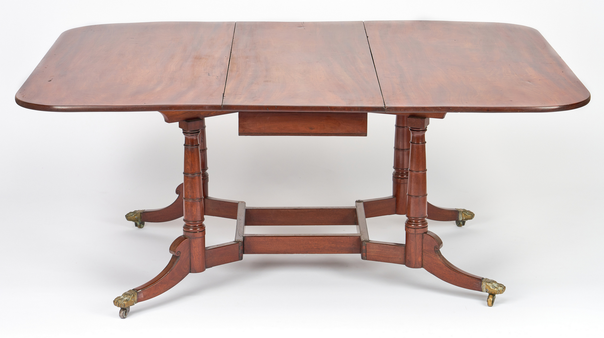 Lot 194: Federal Cumberland Action Dining Table, attr. Constantine & Co, NY