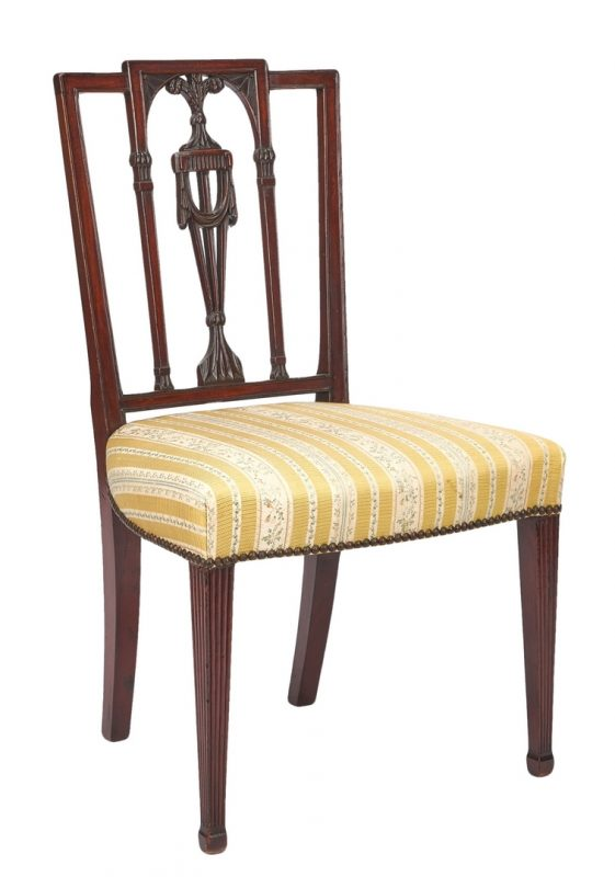 Lot 199: American Mahogany Federal Side Chair