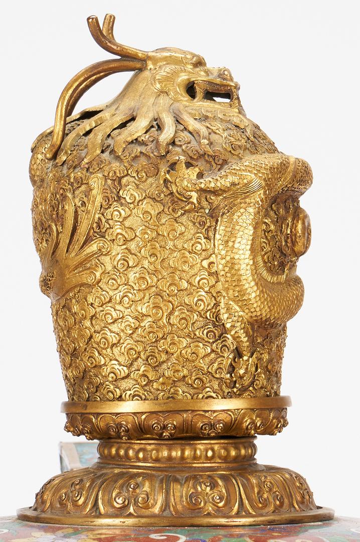 Lot 1: Palace Sized Cloisonne Censer