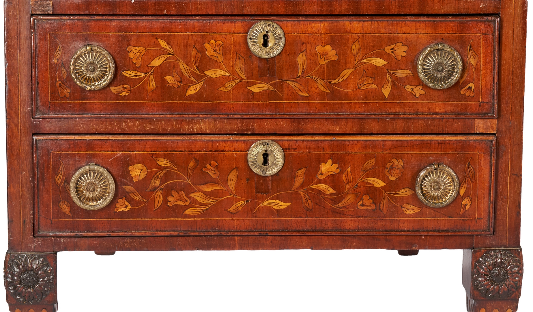 Lot 201: Edwardian Hobbs & Co. Marquetry Desk