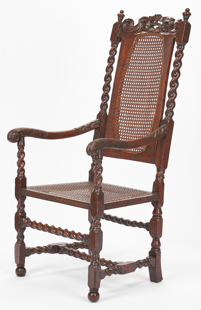 Lot 206: 3 17th Century Chairs, Spanish & English