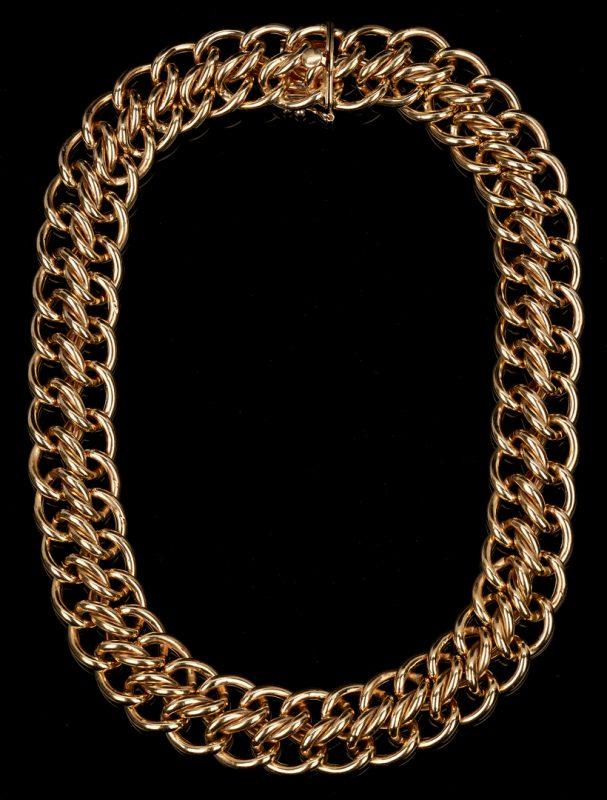 Lot 215: Ladies 14K Double Link Necklace