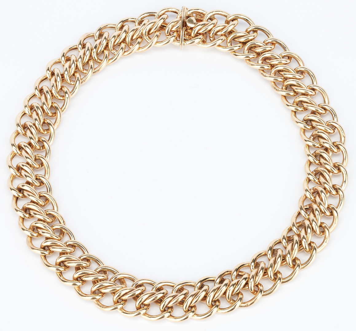 Lot 215: Ladies 14K Double Link Necklace