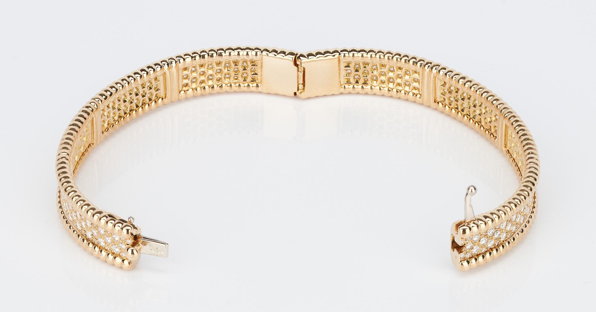 Lot 217: Ladies 18K Van Cleef & Arpels Bracelet w/ Diamonds