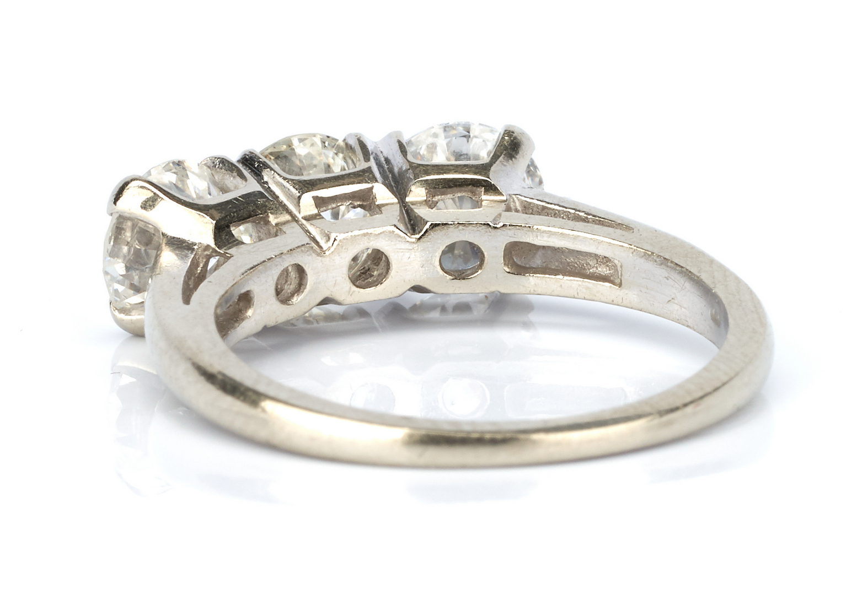 Lot 219: Ladies 14K White Gold & Diamond Ring