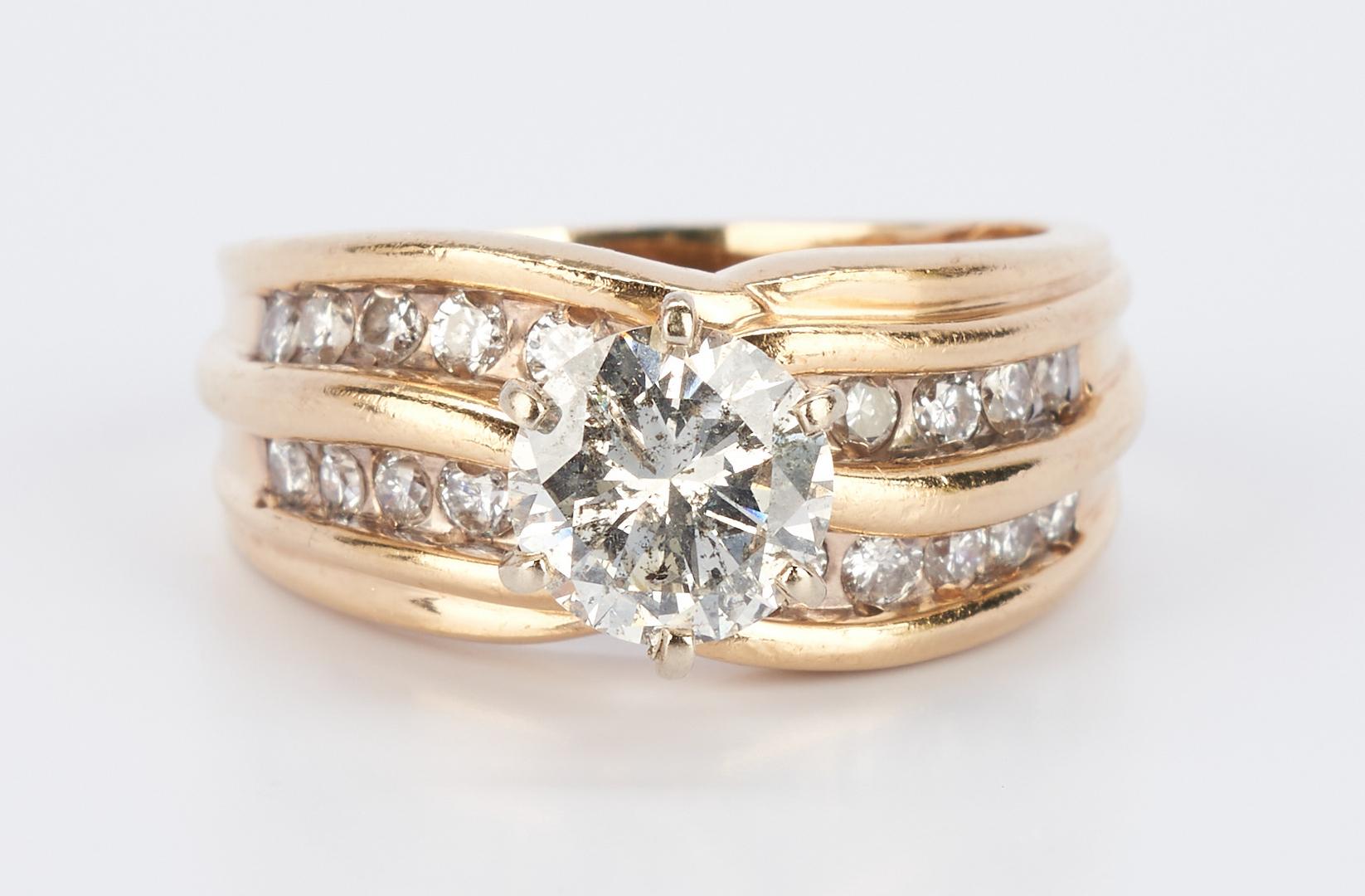Lot 221: Lady's Diamond & 14K Engagement Ring