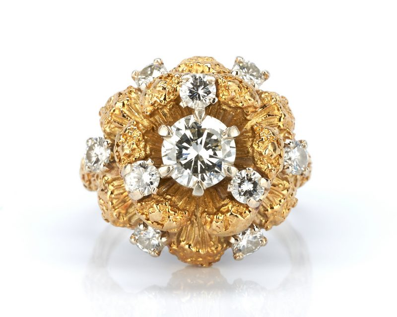 Lot 222: Ladies Diamond and Gold Ring