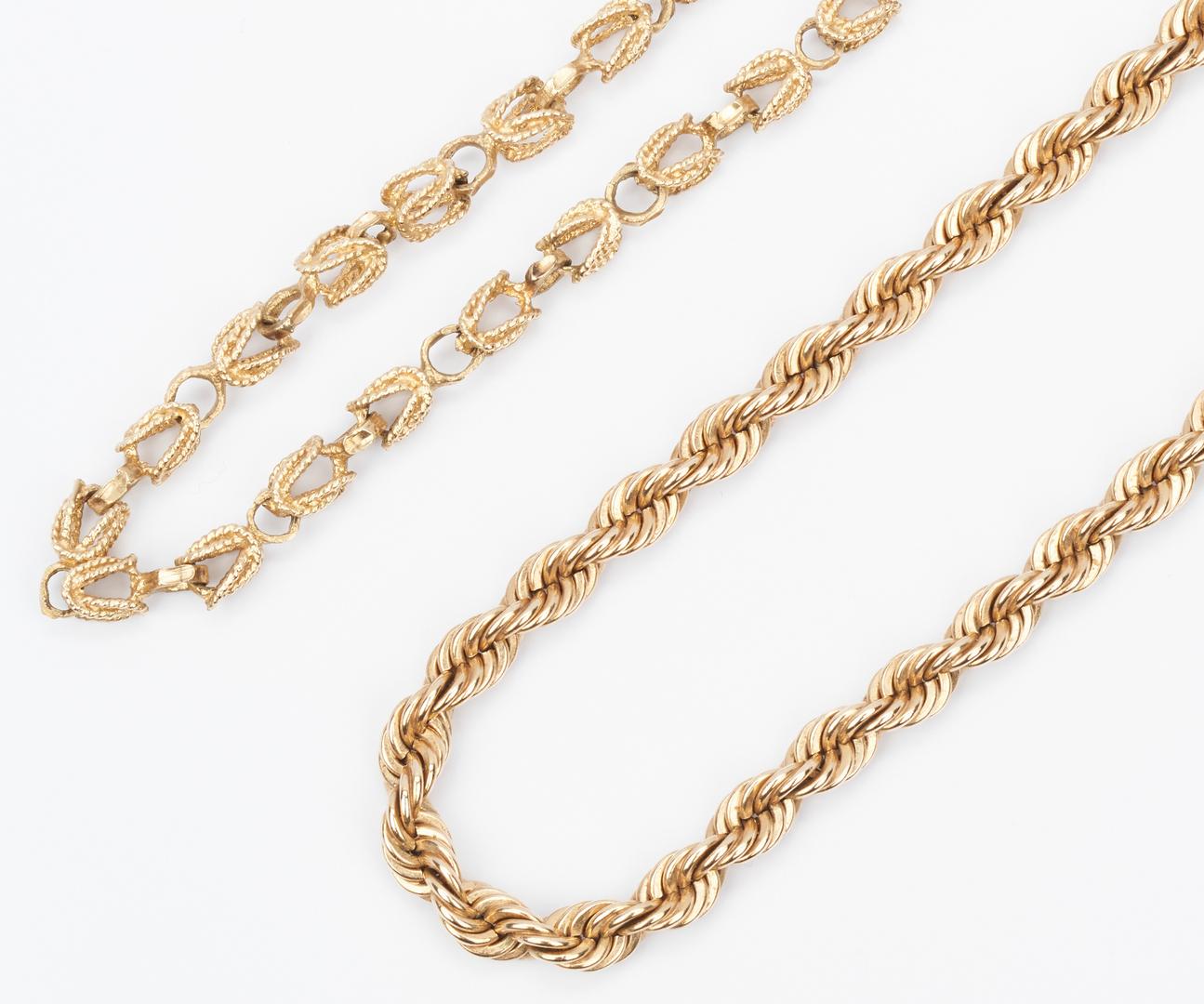 Lot 223: 2 Ladies 14K Gold Necklaces