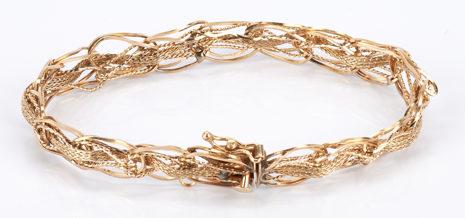 Lot 228: 3 Ladies 14K Gold Bracelets