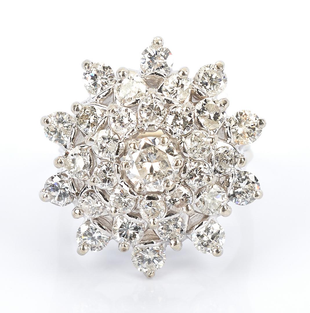 "Lot 230: Ladies Diamond ""Snowflake"" Dinner Ring"