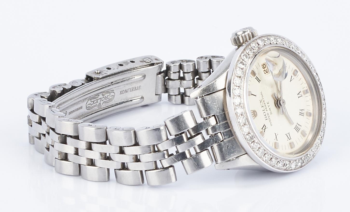 Lot 233: Ladies Rolex Datejust w/ Diamond Bezel