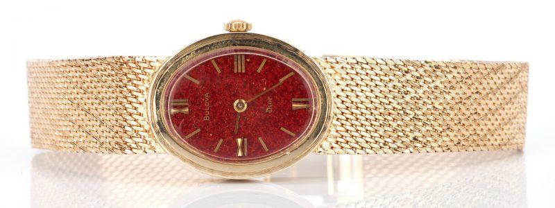 Lot 234: Vintage Lady's Bulova Dior 14K Wristwatch