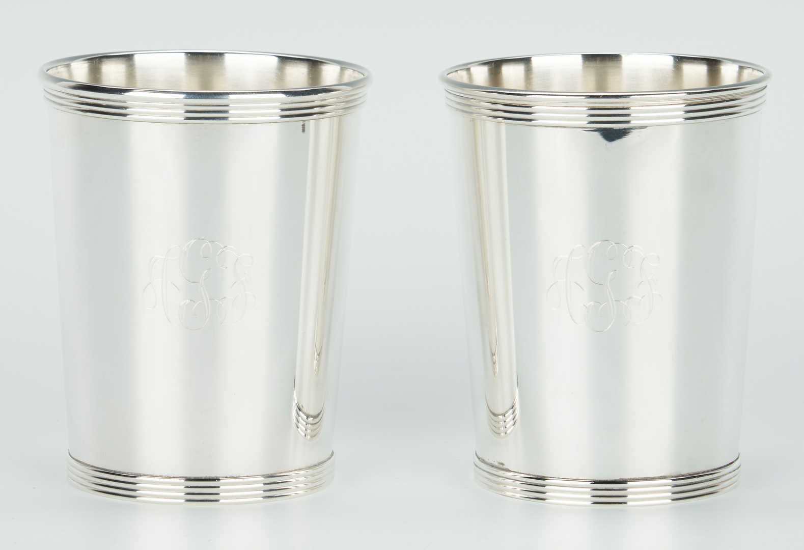Lot 238: 12 Alvin Sterling Julep Cups