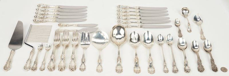 Lot 239: 56 pcs Reed and Barton Flatware,  Burgundy plus Francis I