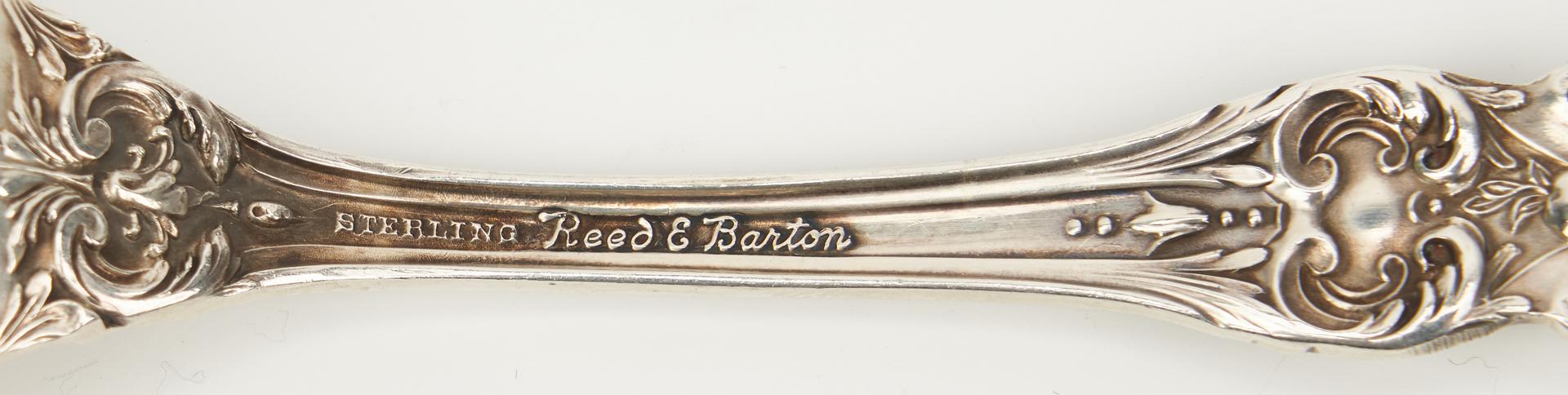 Lot 240: 53 Pcs. Reed & Barton Burgundy Sterling Flatware