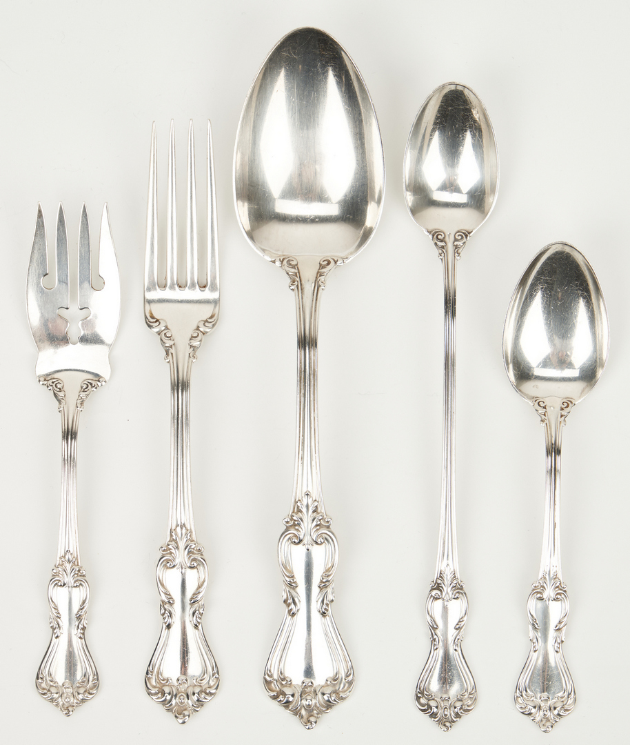 Lot 241: 72 Pcs. Reed & Barton Marlborough Sterling SIlver Flatware