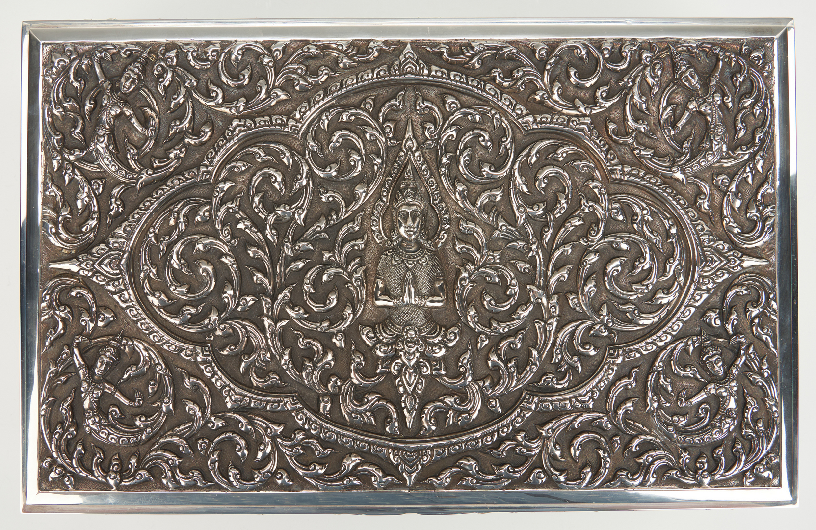 Lot 24: 3 Ladies Sterling Jewelry Items & 1 Thai Silver Box