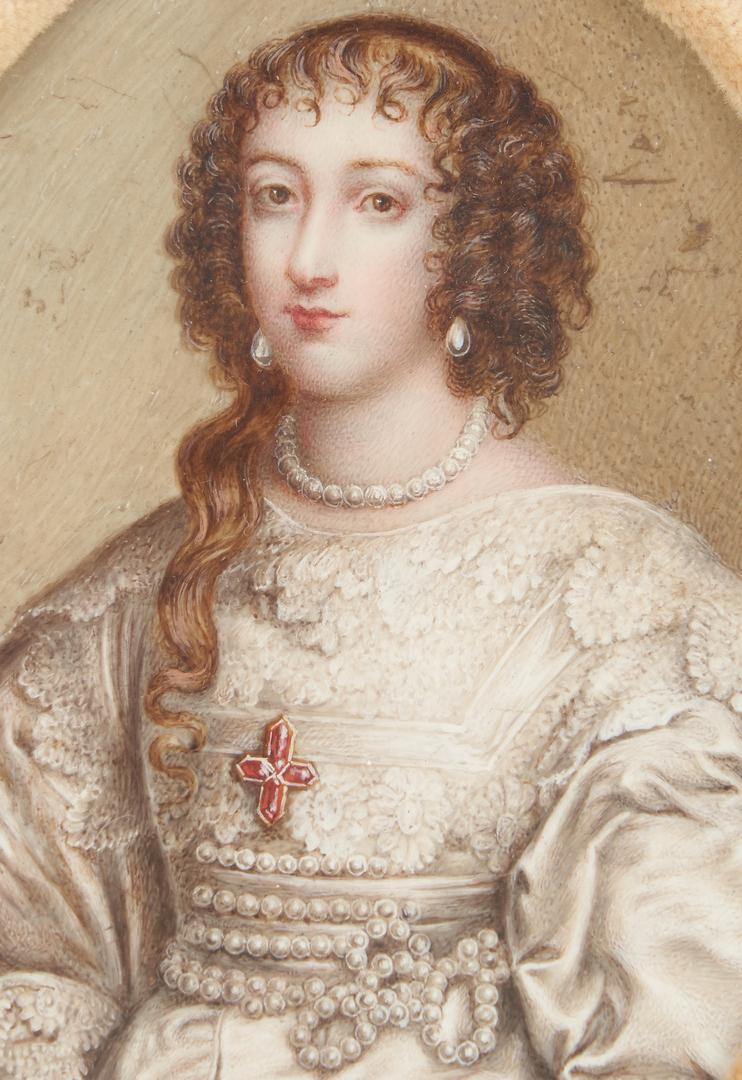 Lot 254: 2 Portrait Miniatures: Empress Marie Therese, Queen Henrietta