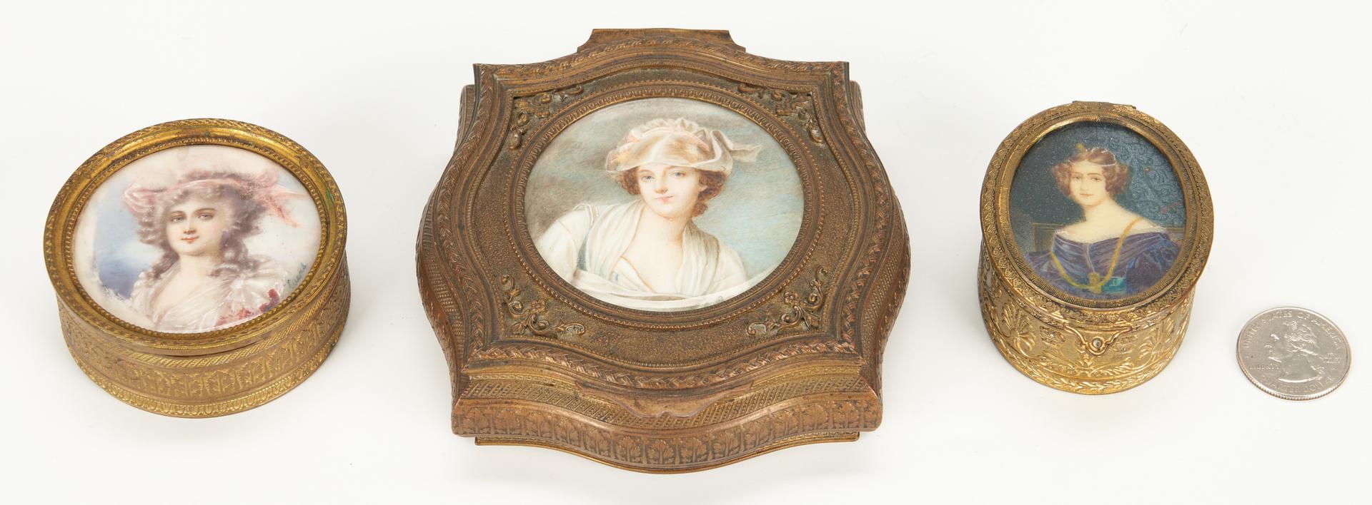 Lot 258: 3 Miniature Portrait Boxes