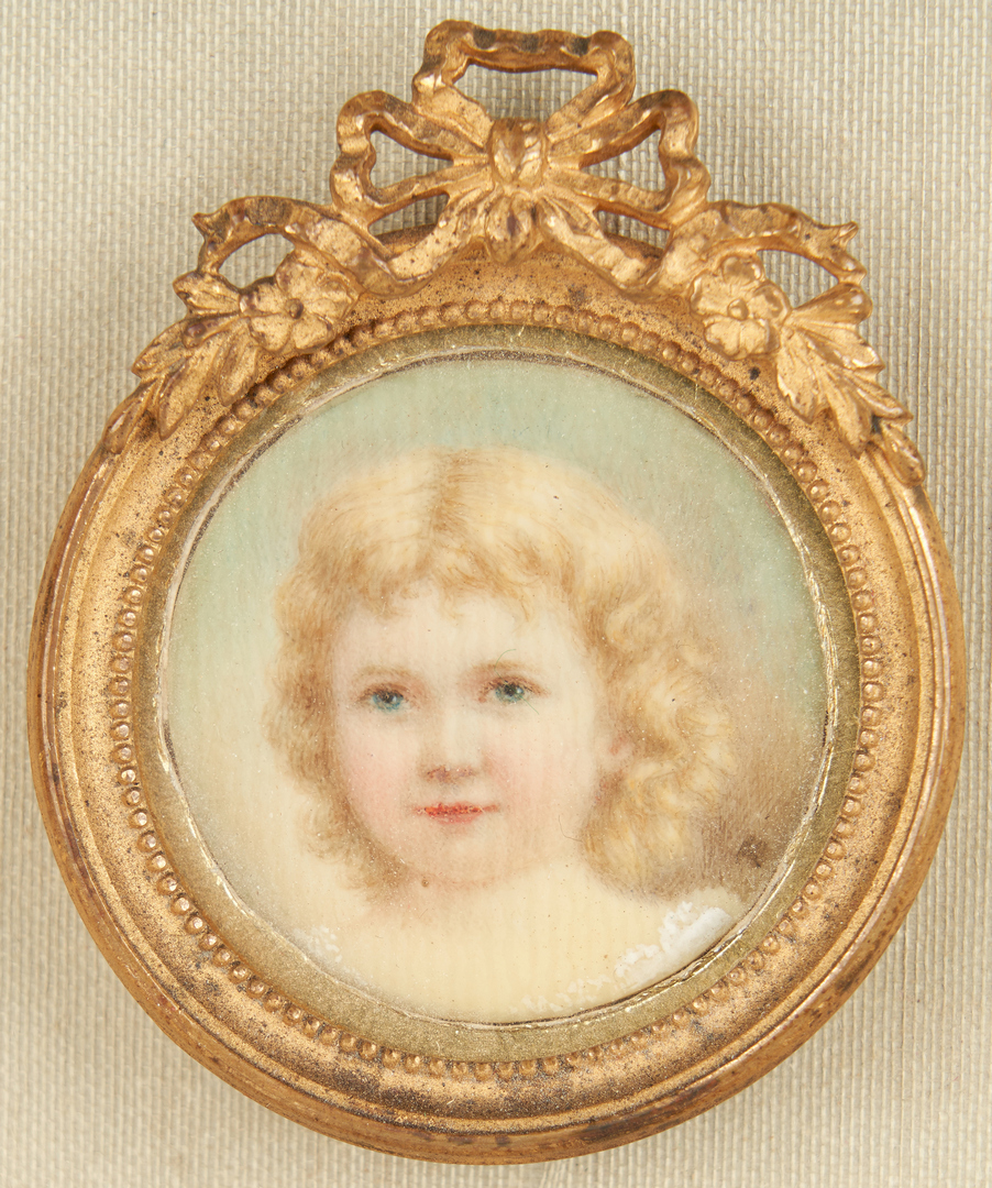 Lot 259: 2 Portrait Miniatures incl. child