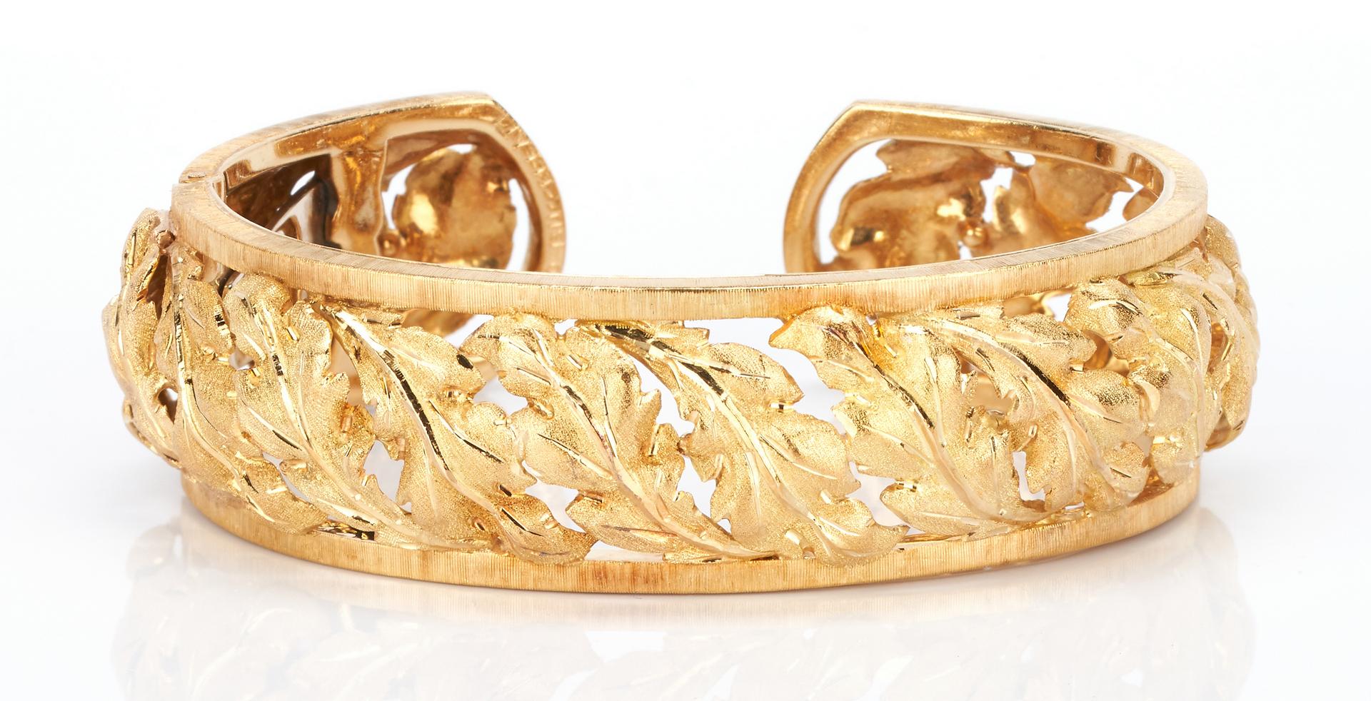 Lot 25: 18K Buccellati Cuff Bracelet