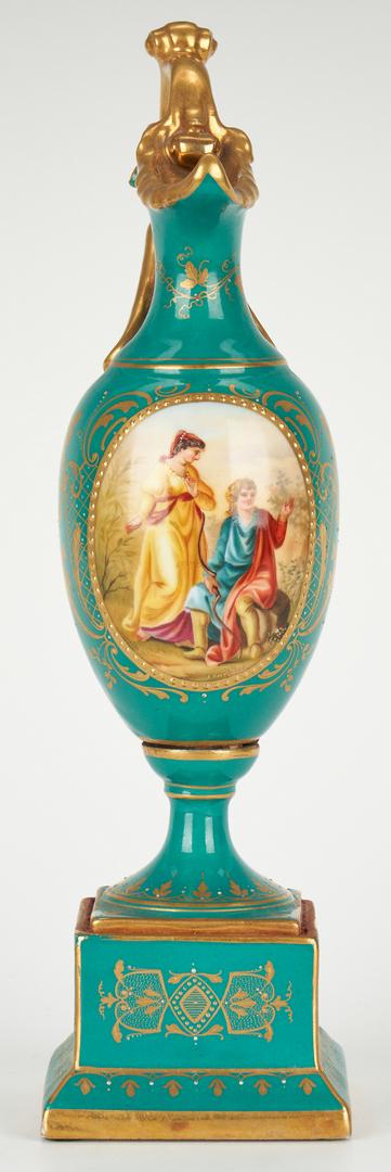 Lot 261: 4 European Porcelain Items, Royal Vienna & Dresden