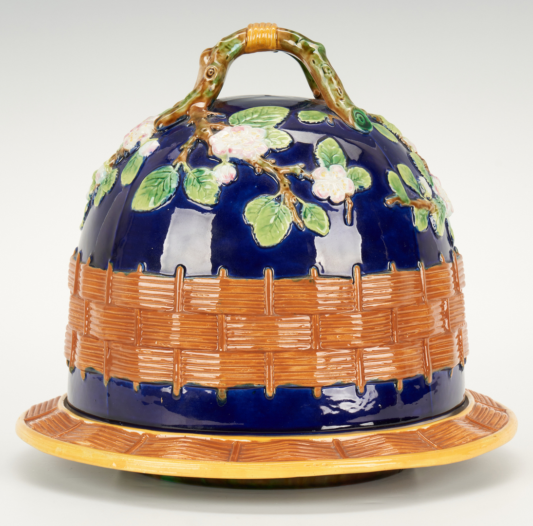 Lot 268: George Jones signed Majolica Cheese Dome