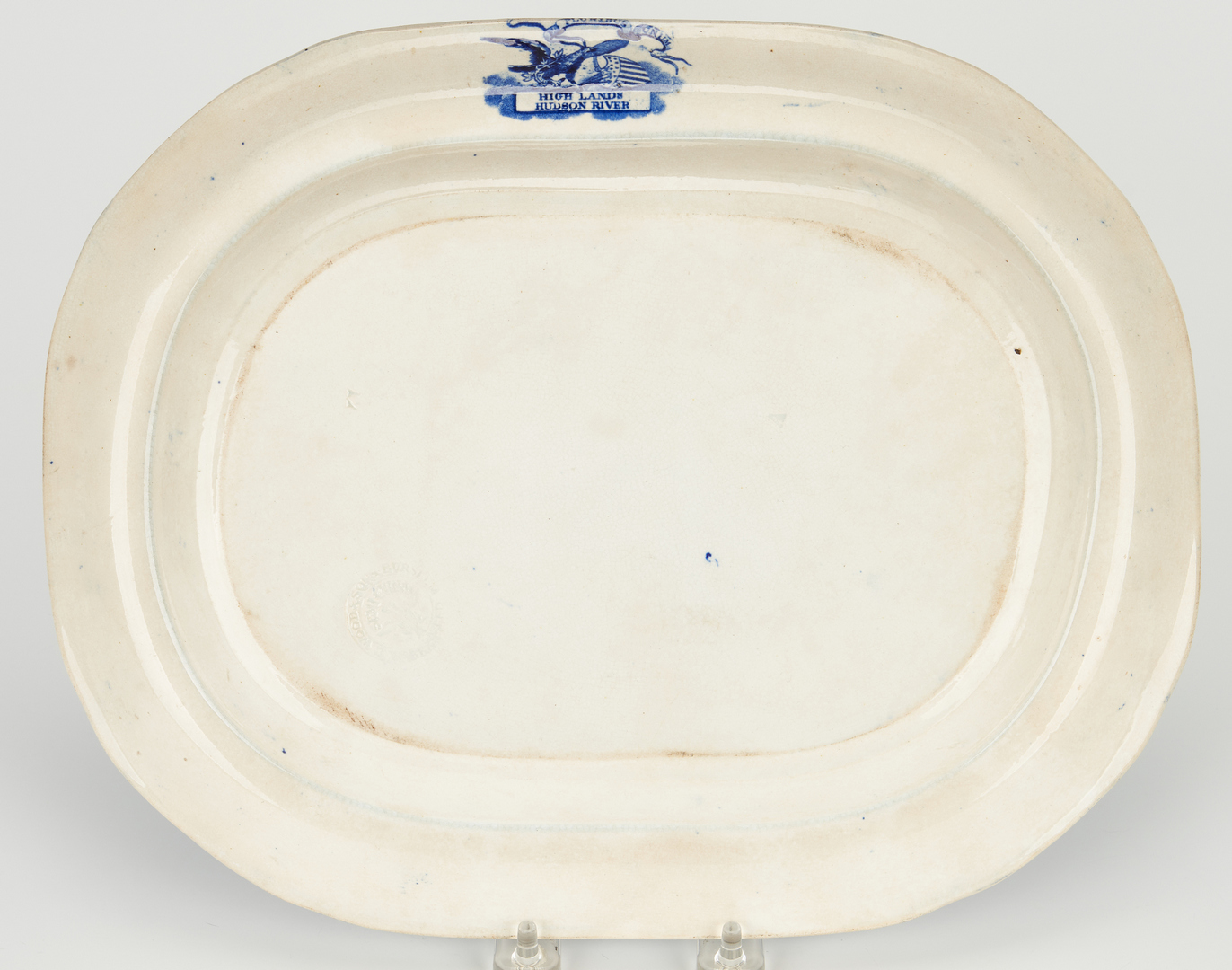 Lot 272: 2 Blue & White Historical Staffordshire Pottery Items