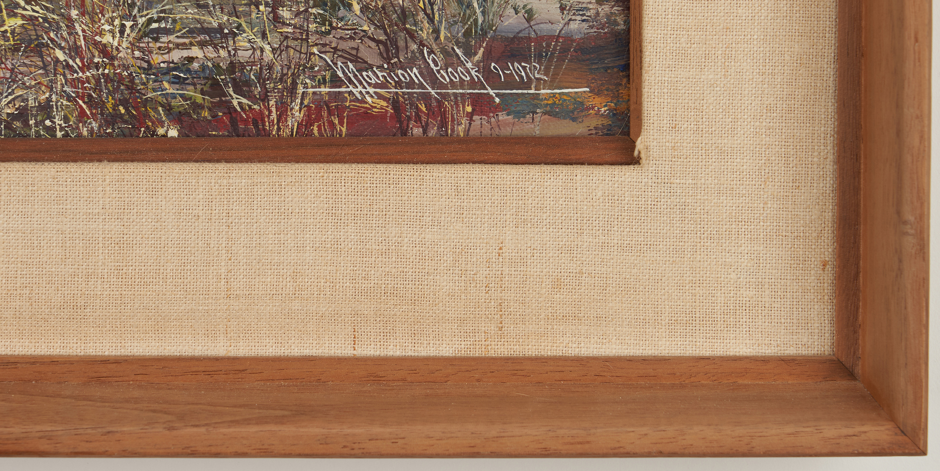Lot 274: 2 Marion Cook Paintings, Barn and Daisies