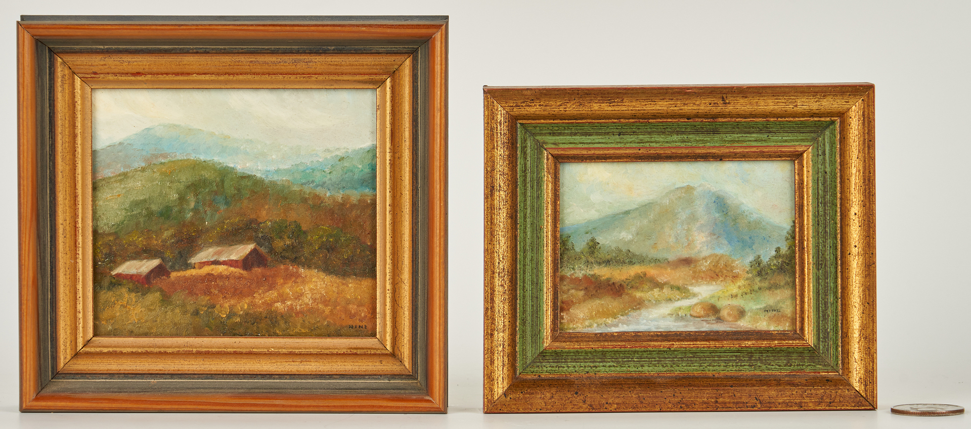 Lot 275: 3 TN O/B Miniature Mountain Scenes, incl. McCoy