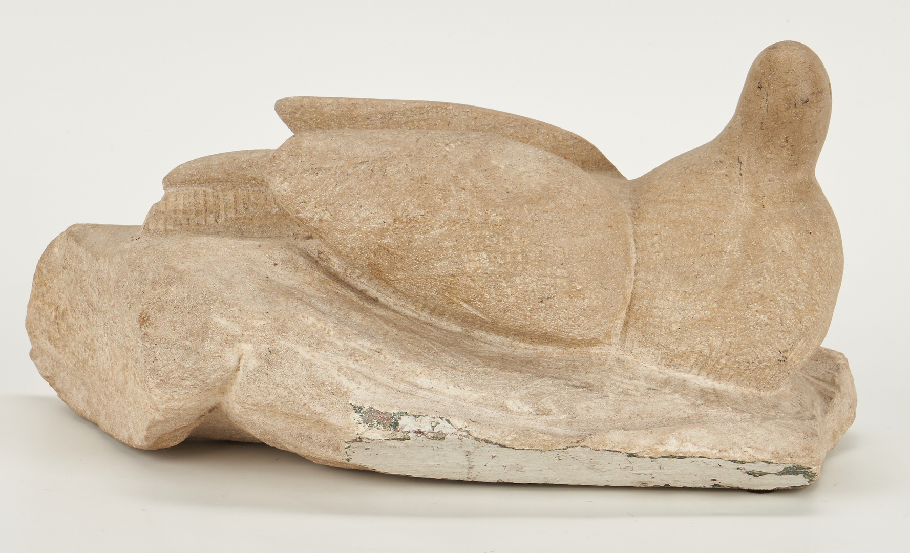 Lot 277: Bill Ralston Carved Stone Sculpture of a Dove