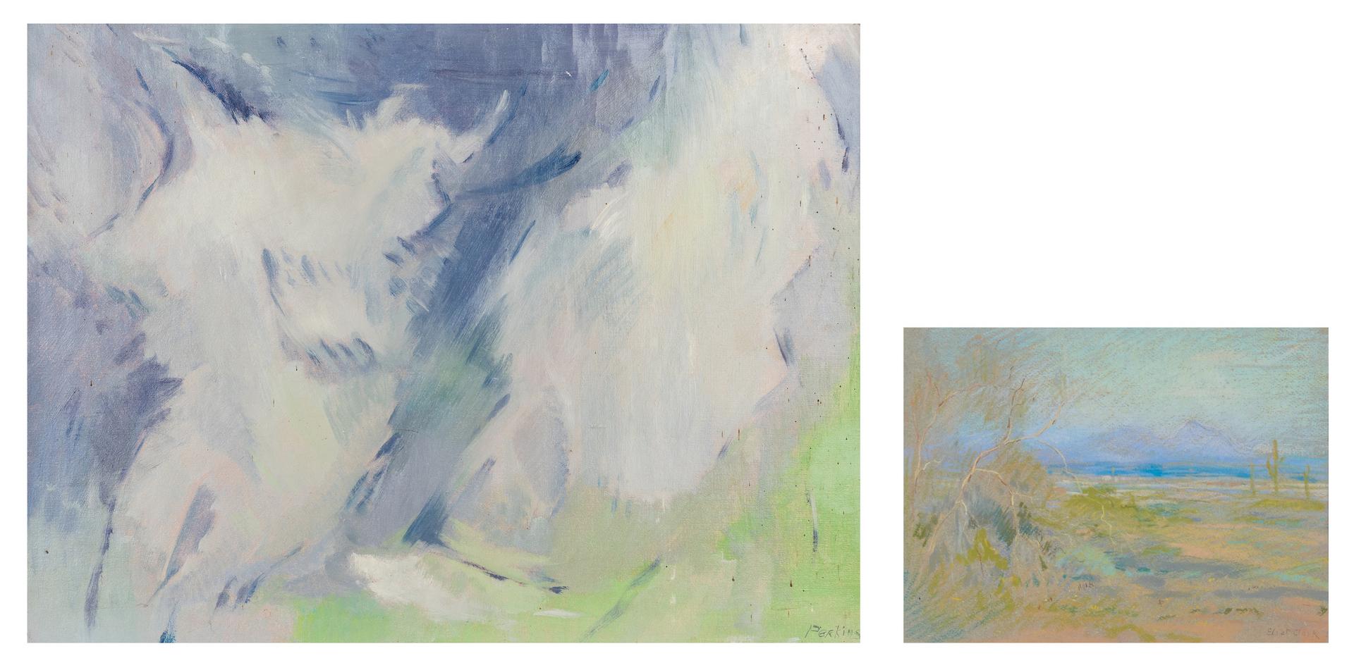 Lot 284: 2 American Artworks, incl. Philip Perkins, Eliot Clark