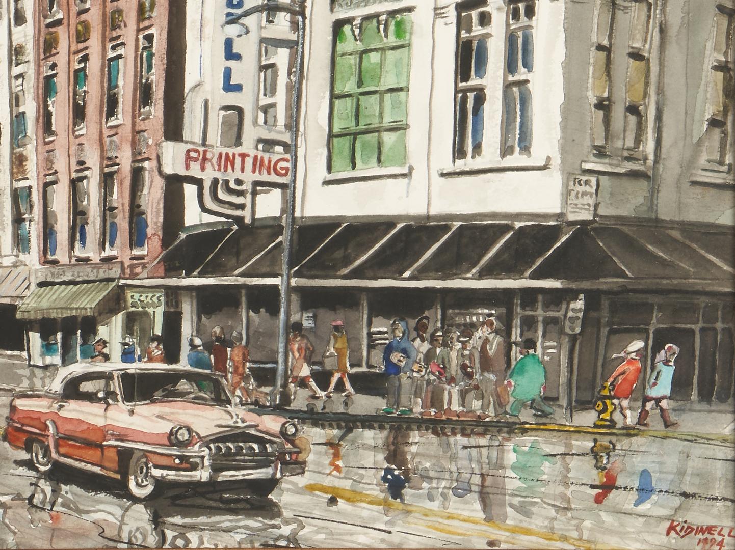 Lot 286: William Kidwell TN Watercolor Scene & Jim Gray Print